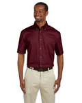 M500S - Harriton Men's Easy Blend™ Short-Sleeve Twill Shirt with Stain-Release