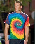 Tie-Dye CD101 Adult 5.4oz. 100% Cotton Spider Tie-Dyed T-Shirt
