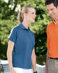 DG375W Devon & Jones Ladies' Dri-Fast™ Advantage™ Colorblock Mesh Polo
